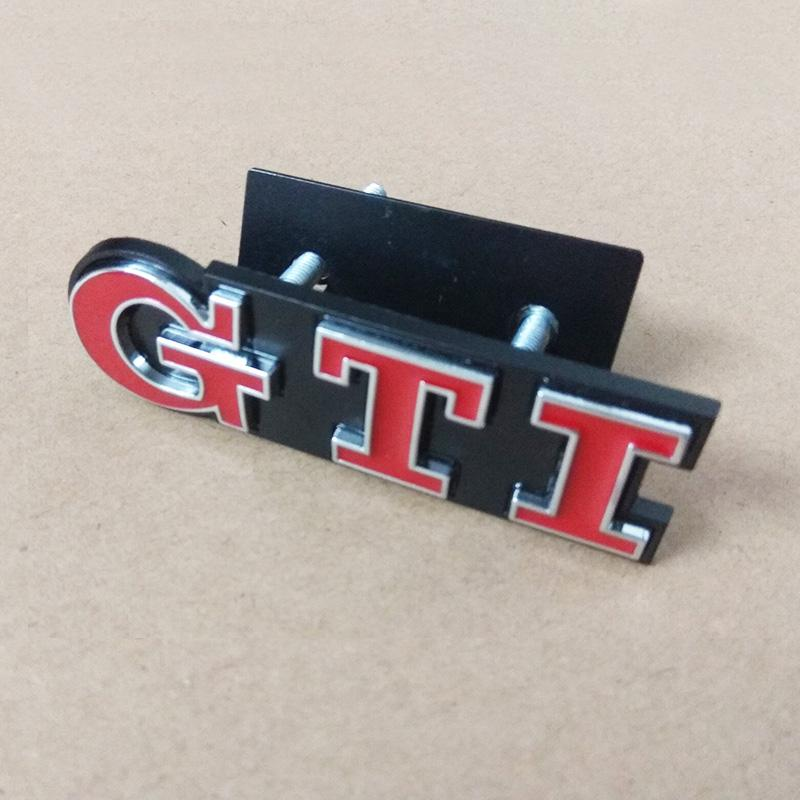 Styling Metal GTI Logo Front Grill Emblem Badge Decal Sticker for VW Volkswagen Golf 4 6 7 MK6 MK7 MK4 MK5 Polo CC Passat