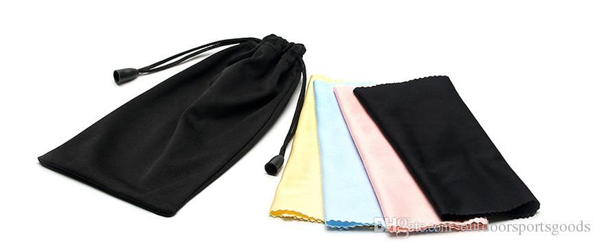 2018 Occhiali da vista di alta qualità occhiali da vista Pacchetto di stoffa Scatole nere e borsa di stracci colorati