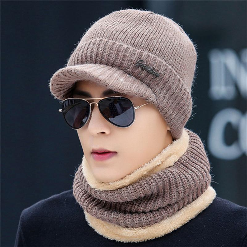 d480b859584 2019 New Letter Wwarm Plush Head Wear Beanies Scarf Two Pc Sets Men Women  Scarves Hat Suits Boys Girls Cap Cold Weather Wear Collar From Chuancai