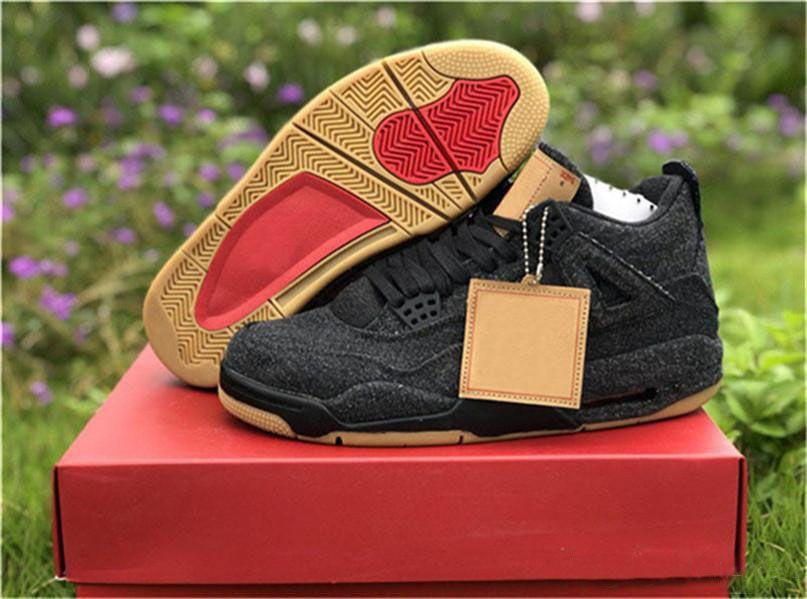 more photos 3a70f 90525 Compre 2018 Chaussures Release OG 4 Denim 4s Negro Blanco Jean Jiont  Limited Para Hombres Zapatillas De Baloncesto Sneakers De Alta Calidad Con  Caja AO2571 ...