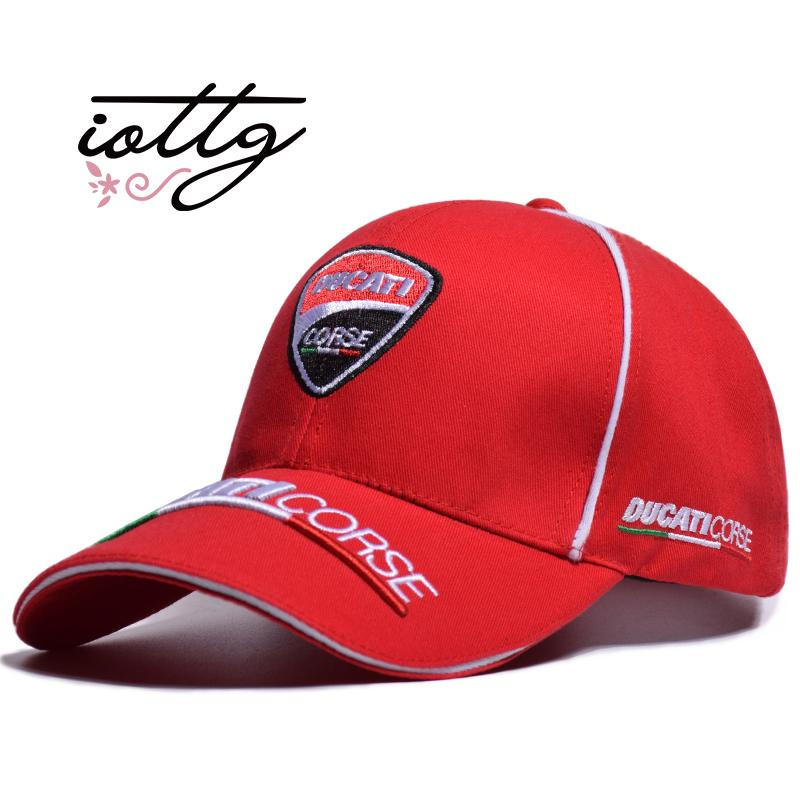 IOTTG High Quality MOTO GP Motorcycle Baseball Cap Ducati Embroidery  Snapback Fashion Sports Hat F1 Racing Caps Embroidered Hats Leather Hats  From ... 4e7fcbaba39