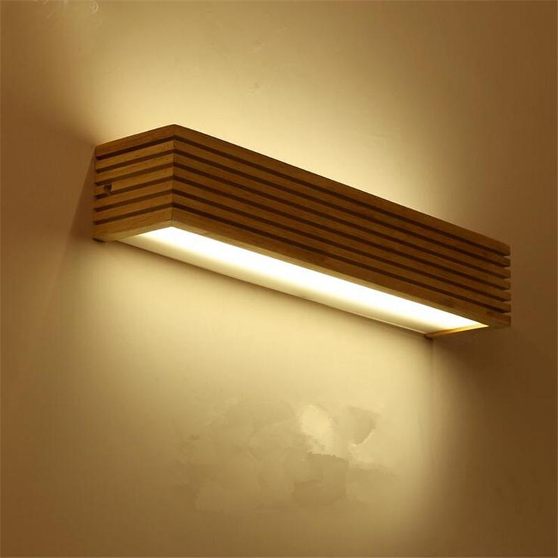 Discount modern chinesejapanese style led lamp oak wooden wall lamp discount modern chinesejapanese style led lamp oak wooden wall lamp lights sconce for bedroom home lighting wall sconce solid wood wall light from china aloadofball Images