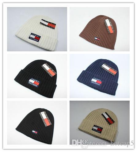 2852774e090 Wholesale Luxury Brand Design Beanies Fashion Casual Knitted Hats Autumn  Winter Men Women Kids Caps Christmas Gift Cap Snapback Hat Online with   11.2 Piece ...