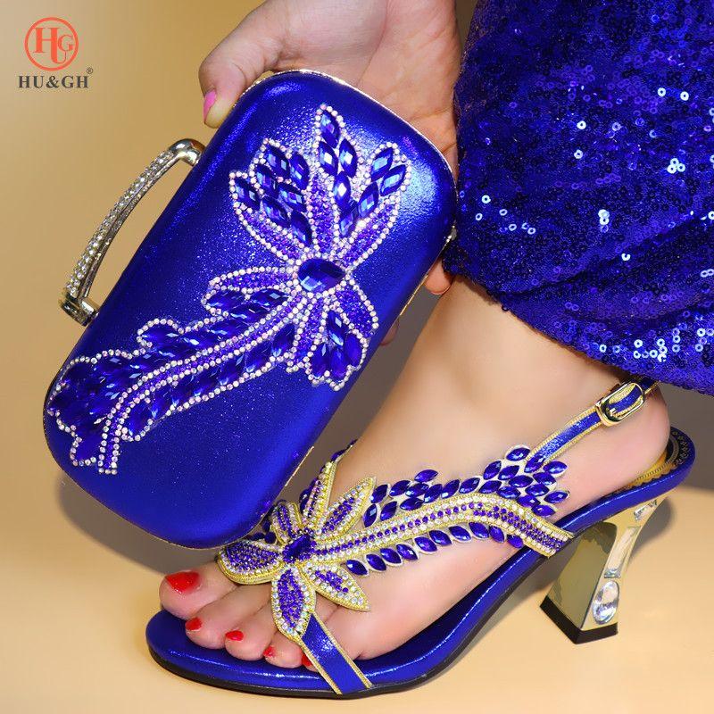 552d78fd8c Acquista Nuove Scarpe E Borse Royal Blue Set Scarpe Moda Africane E Borse  Abbinate Set Peach Lady Italia Sandali E Borse Scarpe Da Sposa A $68.35 Dal  ...