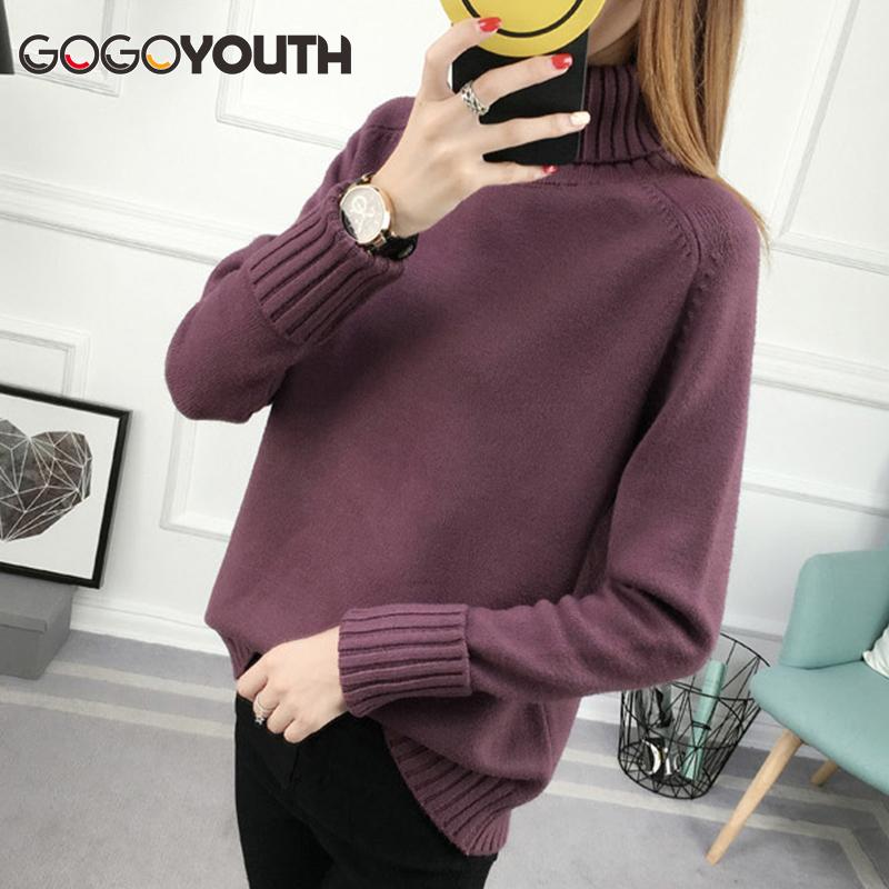 464fe70503 2019 Surmiitro Winter Sweater Women Turtleneck 2018 Long Sleeve Tricot Women  Sweaters And Pullovers Female Knitted Jumper Jersey Tops S1031 From  Ruiqi02