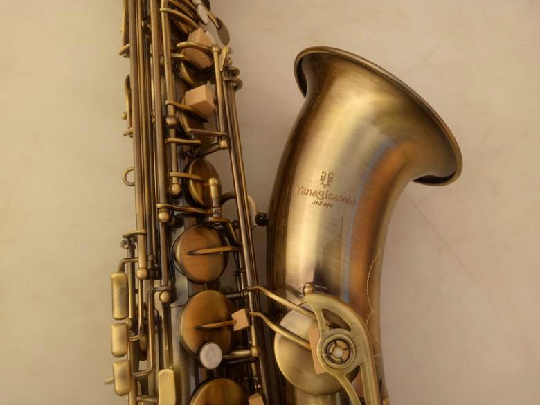 New Professional de Alta Qualidade YANAGISAWA T-992 Bb Tenor B Saxofone Plana de Bronze de Alta Qualidade de Bronze Antigo Pérola Botões Com Bocal