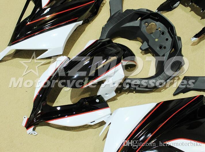 Nuove carenature moto montate su Kawasaki Ninja300 EX300R 2013 2014 2015 2016 Stampo a iniezione ABS Fairing Kit Cappottature rosso nero bianco BR