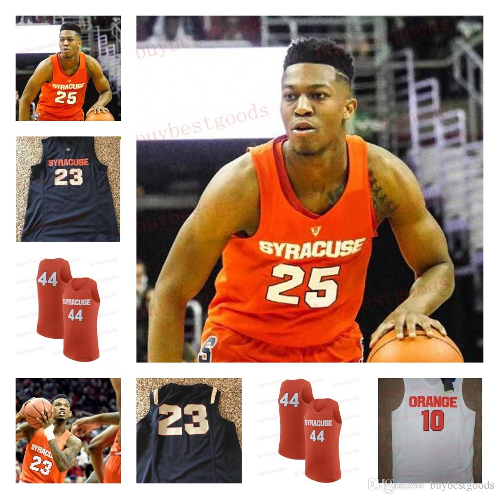 Syracuse Orange Ncaa College Basketball Jerseys Custom 10 25 Tyus