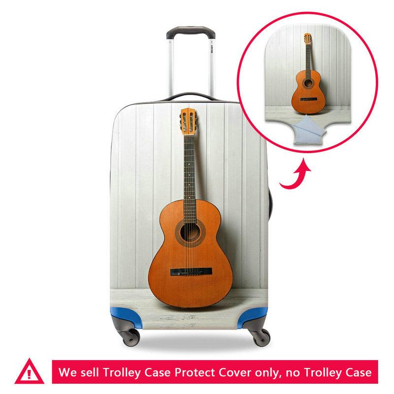 Elastic Anti-Dust Travel Luggage Protective Cover Apply to 18-30 Inch Trolley Case Suitcase Violin Pattern Dust Protect Covers For Students