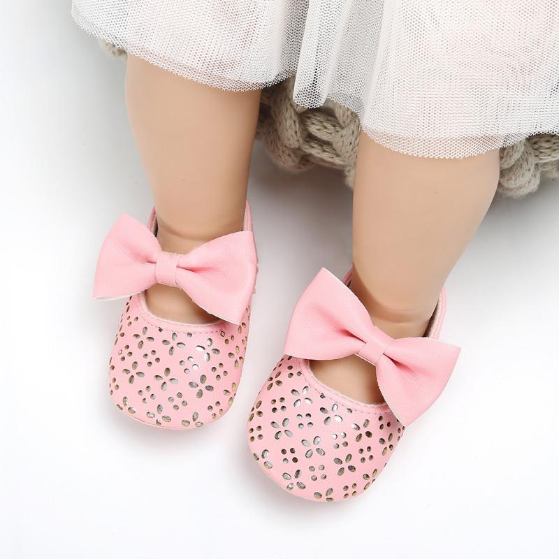 Mother & Kids Baby Shoes Responsible Sweet Baby Girls Princess Polka Dot Big Bow Infant Toddler Ballet Dress Soft Soled Anti-slip Shoes Footwear