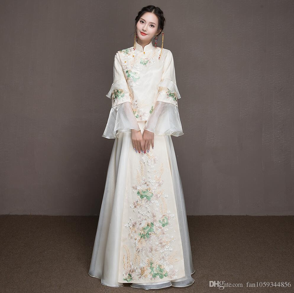 2018 The Spring And Summer Of Chinese Style Wedding Dress The Bride ...