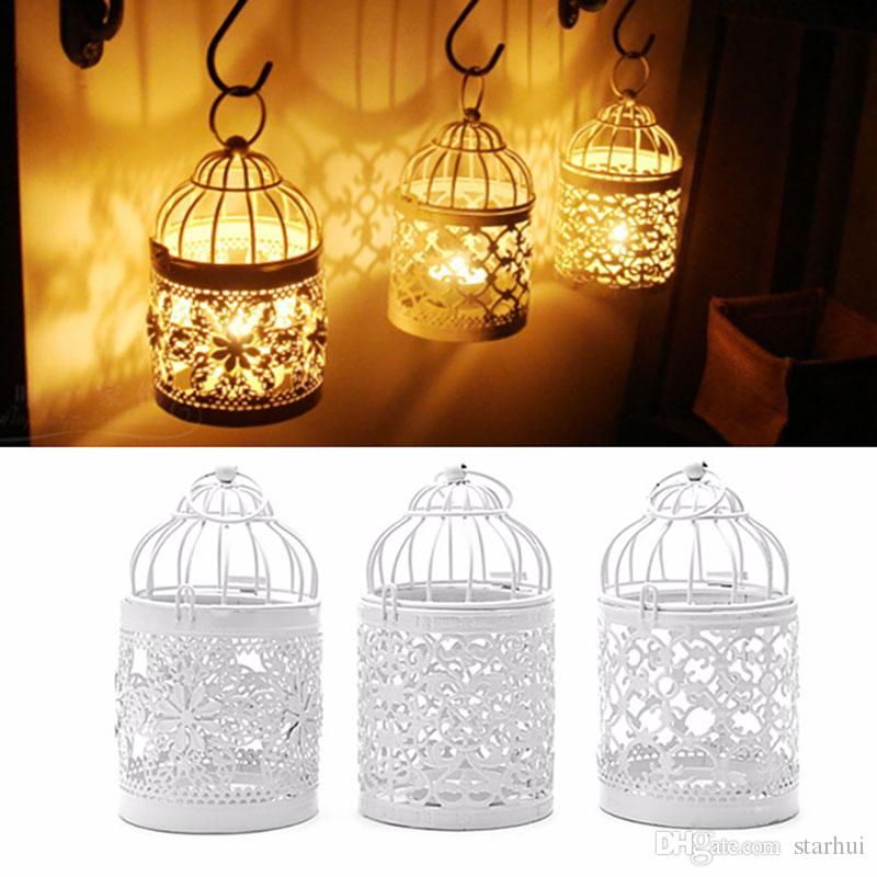3 Designs Metal White Hollow Candle Holder Tealight
