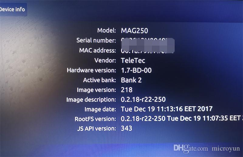 Linux MAG250 Best firmware R22 STB MAG 250 Set Top Box Same as Mag322 Linux  System streaming Linux TV Box 256M Media Player