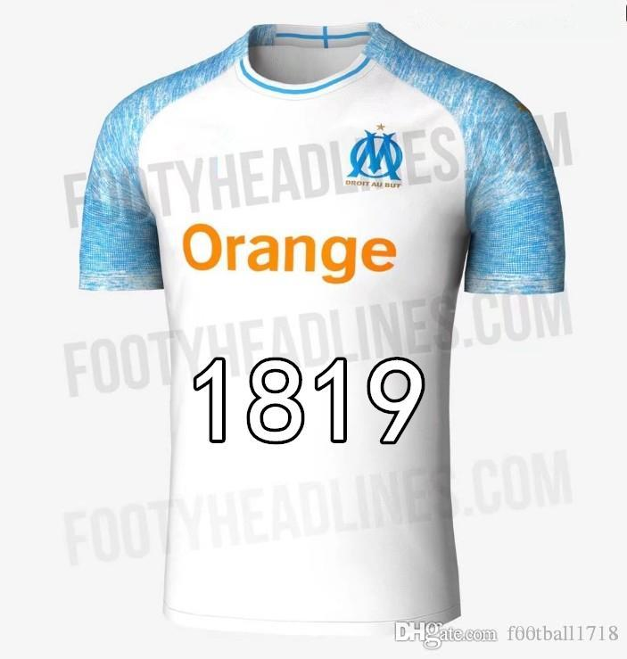 Top Quality Olympique De Marseille Soccer Jersey 2018 OM Marseille ... f2d5dfc93