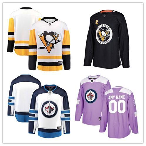 2018 NHL Pittsburgh Penguin Winnipeg Jets Fans Edition Home away ... 94cd9d2a3