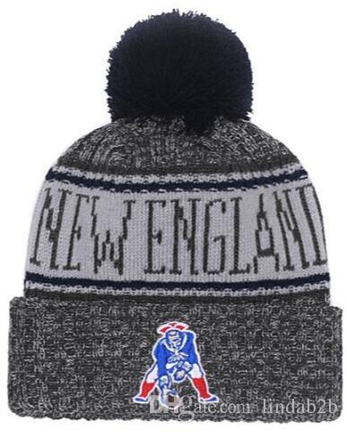 2019 2019 American City All Team Patriots Beanies Sports Pom Hat Men Women  Sideline Cold Weather Reverse Knit Hat Official Graphite Black Caps From  Lindab2b ... 398e0ed98