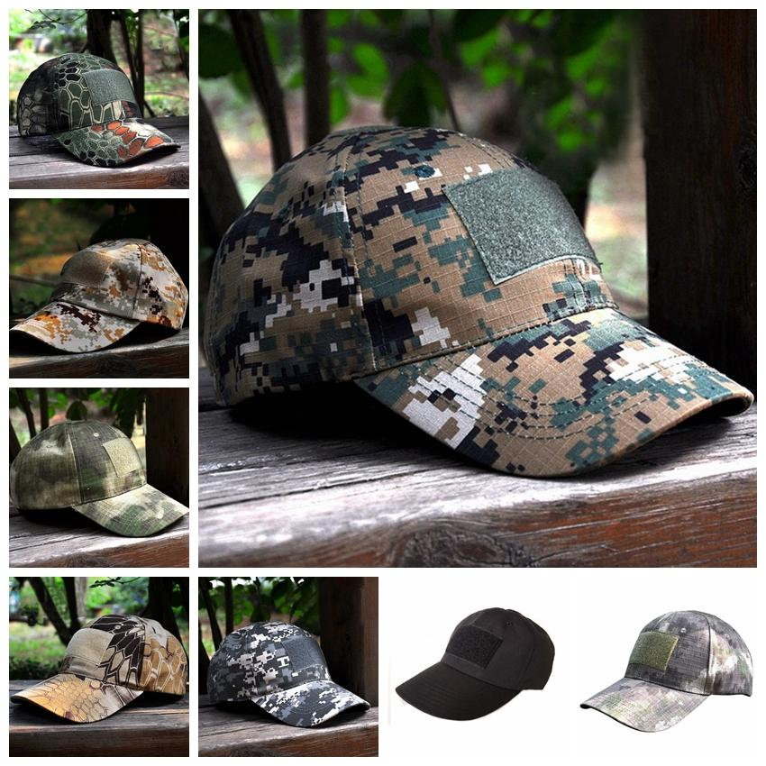 Camouflage Caps Special Force Tactical Operator hat Baseball Hat Cap Baseball Style Military Hunting Hiking Patch Hats GGA958