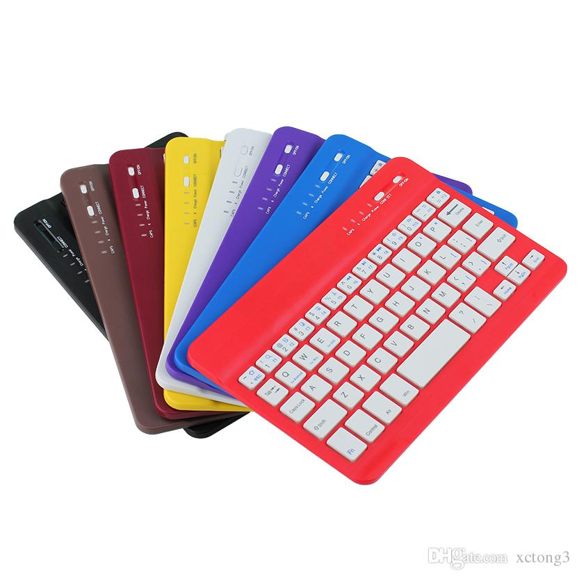 Universal 7 10inch Mini Bluetooth Keyboard long-lasting Battery Ultra-thin Bluetooth Keyboard for PC iPad Laptop Android Windows XPT6-10