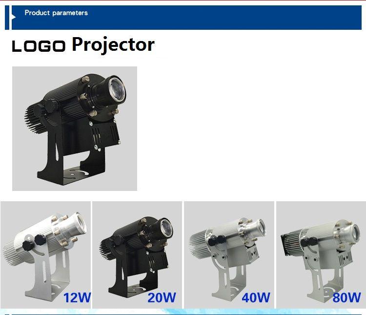 Proiettore Gobo Proiettore Logo Esterno Impermeabile IP65 12 W 20 W 40 W 80 W Spinning Puntatore laser Discoteca Stage Light Party Pattern