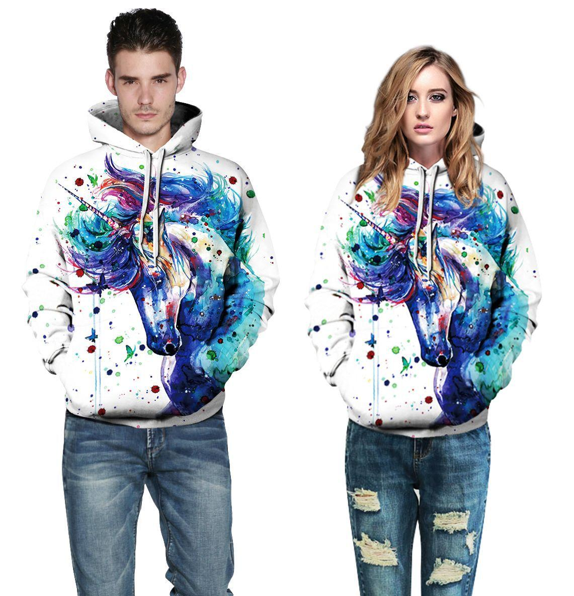 fe8c2bfd9c 2018 3D Printing Couples Clothing Fashion Sport Hoodies Coat With ...