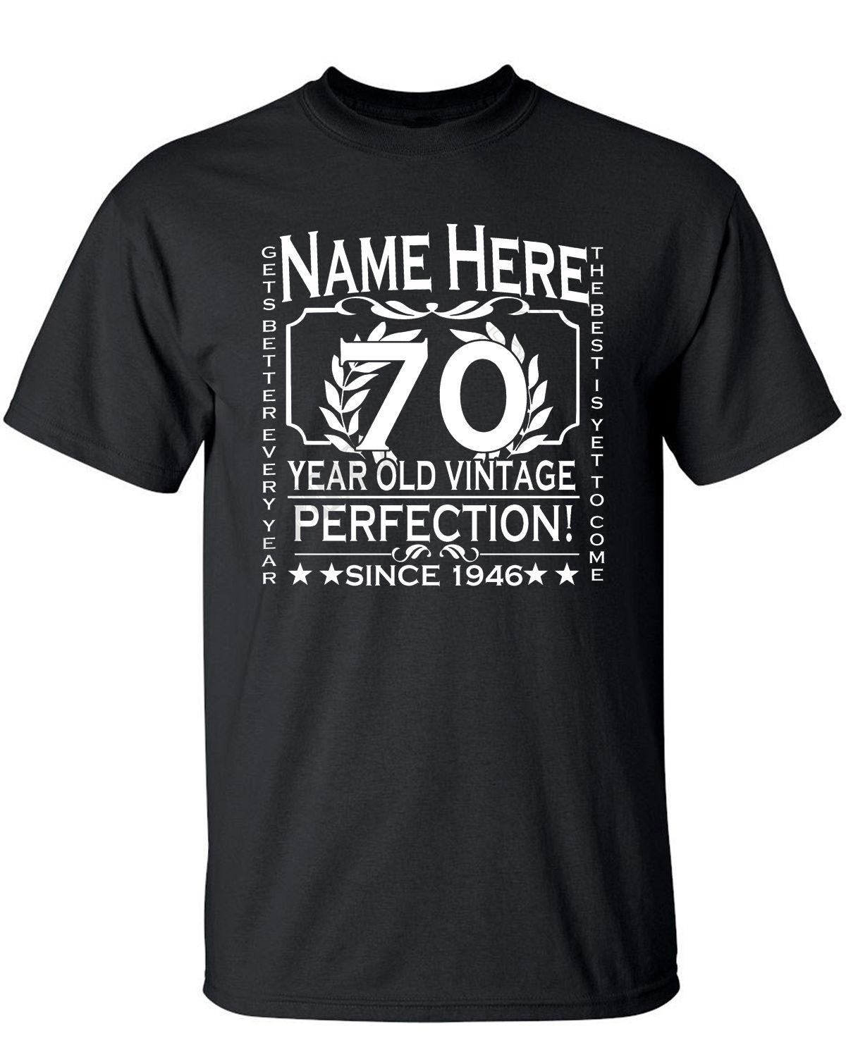 Mens 70th Birthday T Shirt Customised Personalised Add Name Year Age 80th 60th 24 Hour Tee Shirts From Mycarperformance 1101