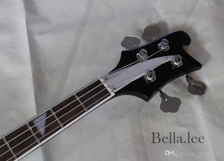 Custom OEM blue/black bass electric guitar,4 string,Chrome hardwares bass,Made in China