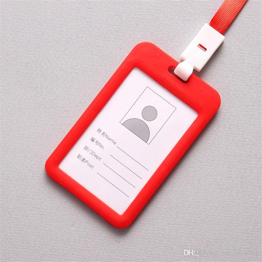 Color caramelo Insignia de identidad cordón de plástico Identificación del trabajo Tarjeta de correa para el cuello Titulares del autobús Tarjeta de trabajo Acceso al autobús Titular de la tarjeta de estudiante con cordón