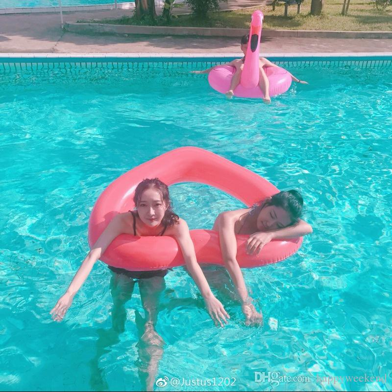 Sweet Heart Shape Swimming Ring For Women Giant Sexy Inflatable Pool Float Red Love Water Fun Toys Piscina Hot