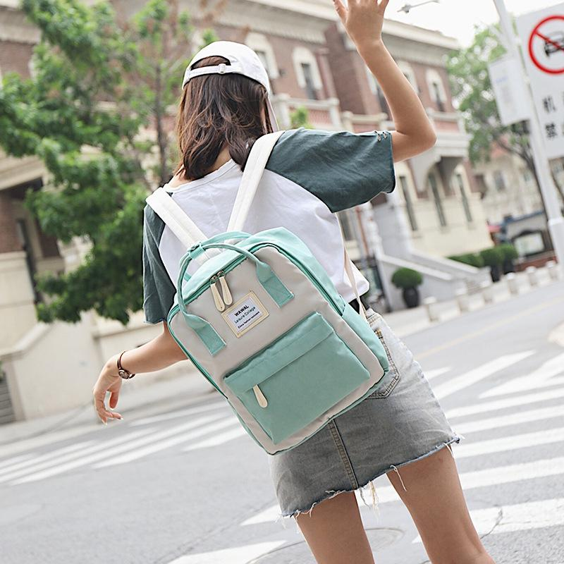 615c1a065a6 2018 Fashion Cute Canvas Backpack Female Casual Stylish Women Backpacks For  Girl School Bags College Teenage Shoulder Rucksack Cheap Backpacks Rolling  ...
