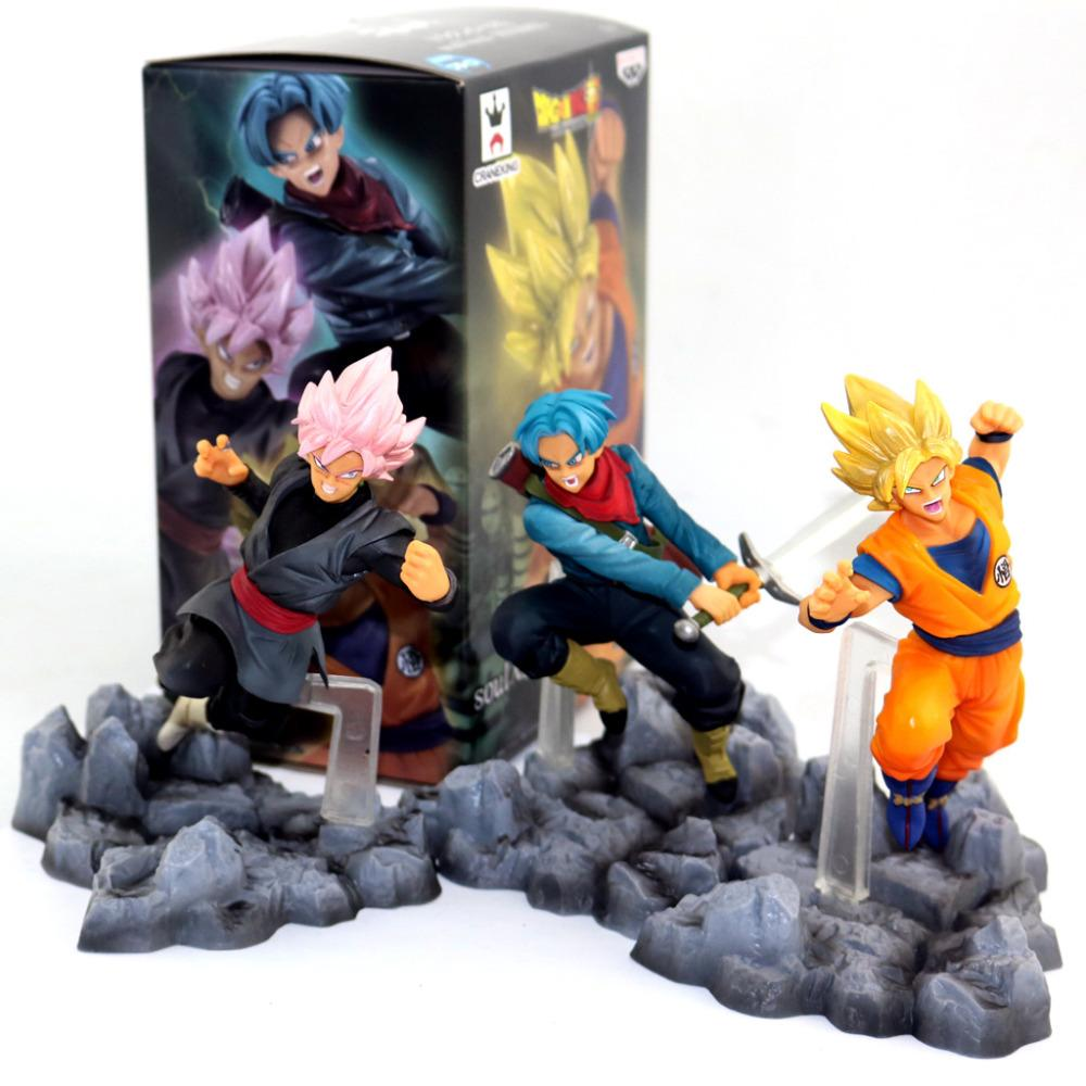 2019 huong anime 10 cm dragon ball super super saiyan son goku kakarot trunks black son goku pvc action figure collectible model toy from hopestar168