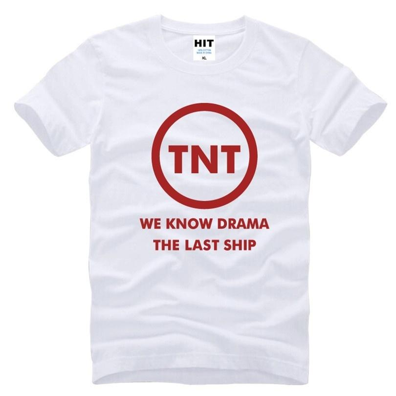 THE LAST SHIP TNT Letter Printed Mens Men T Shirt T-shirt Fashion 2017 New  Short Sleeve Cotton Tshirt Tee Camisetas Masculina