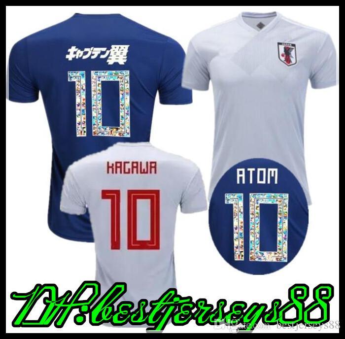 Top Thai Quality 2018 World Cup Japan Home Blue Soccer Jersey OKAZAKI  KAGAWA HASEBE NAGATOMO 2018 Japanese Football Shirts Soccer Jersey Soccer  Jerseys ...