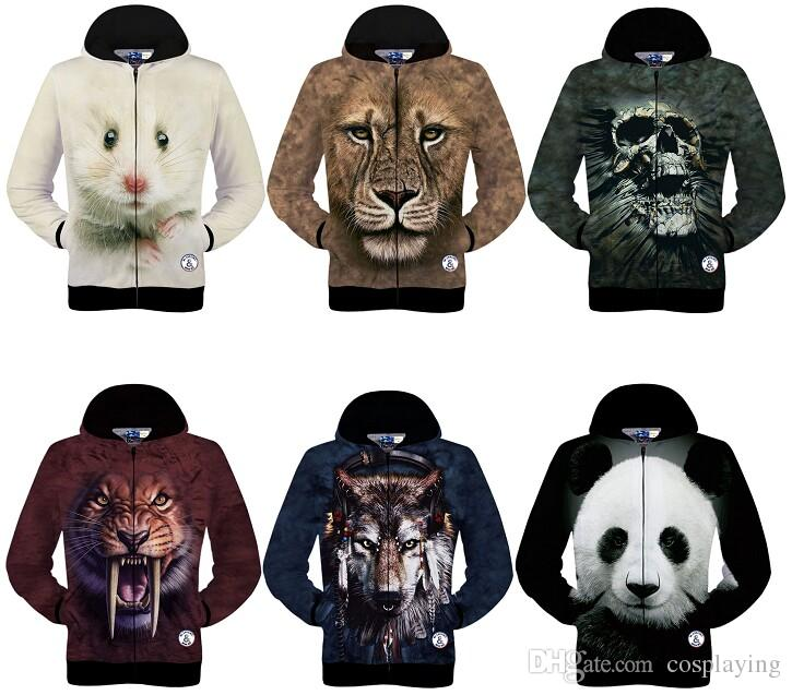0f7fab4f99d5 2019 Fashion Men 3D Printing Animal Hoodies Sweatshirts Pullover Long  Sleeve Sweater Fall Winter Clothing From Cosplaying, $19.29   DHgate.Com