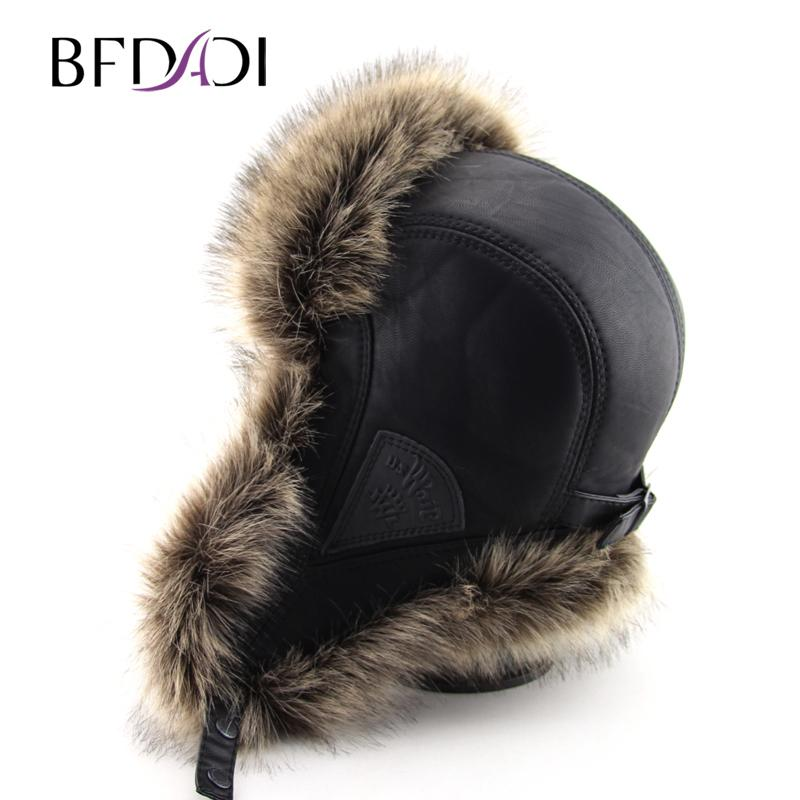 2019 BFDADI Hot Sale Faux Fur Ear Flaps Cap Trapper Snow Ski Snowboard Warm Winter  Aviator Bomber Hats Caps Women Men C18110801 From Xiao0003 ceb4129e328