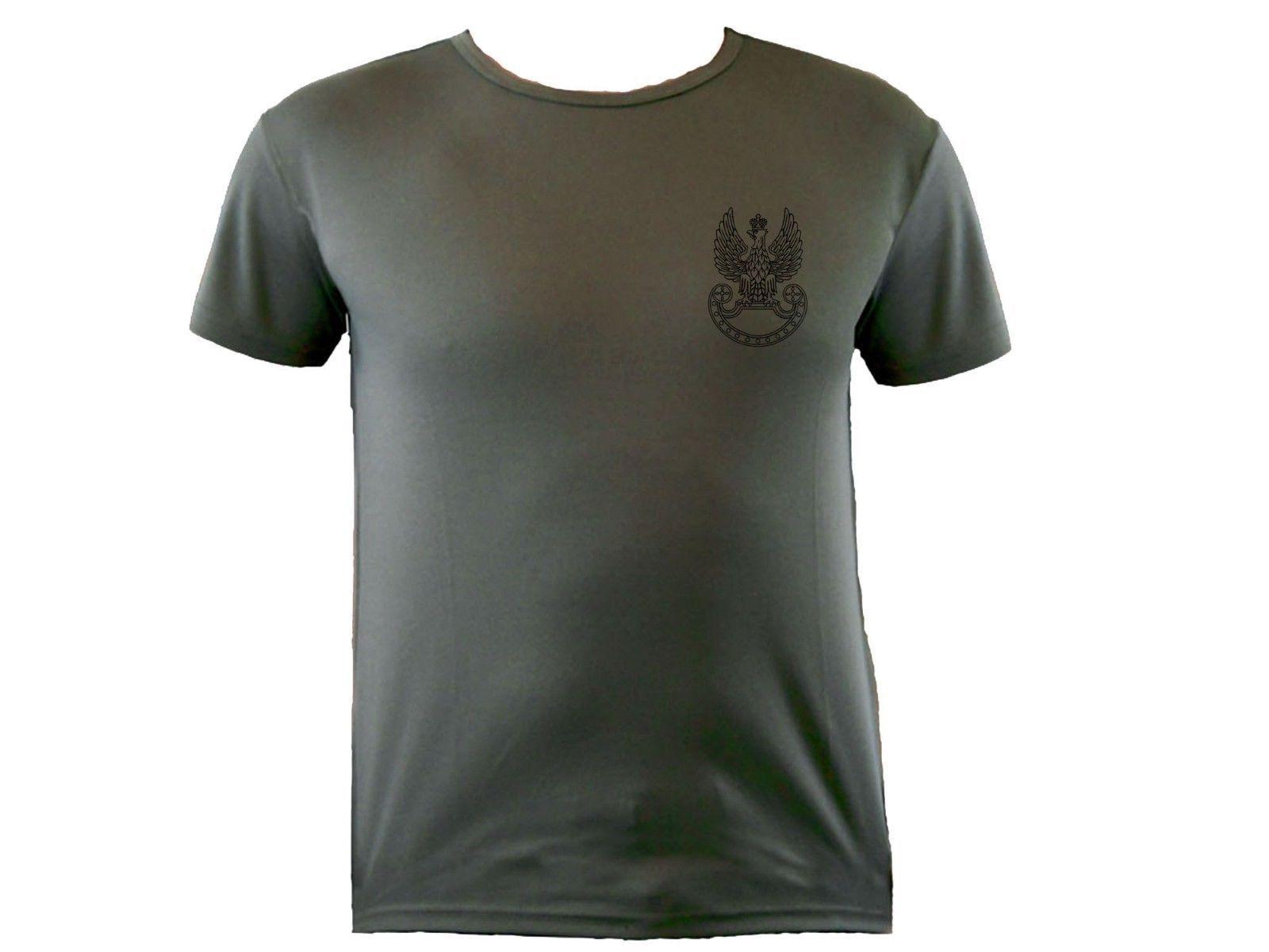 Polish Army Emblem Eagle Sweat Proof Polyester Polska Graphic T