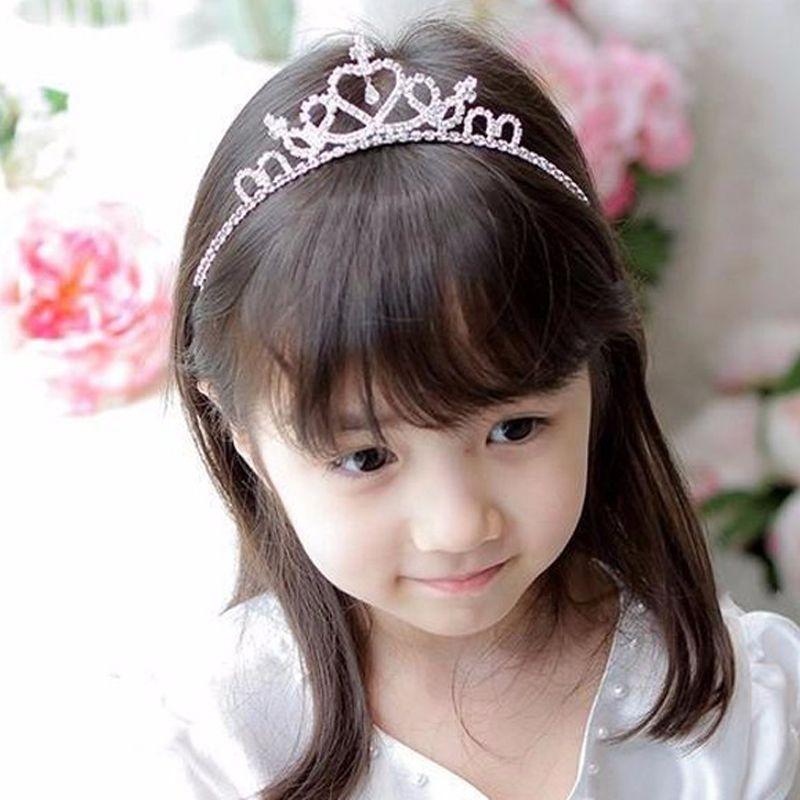 2019 Western Hair Accessories Cute Girls Wedding Crystal Princess