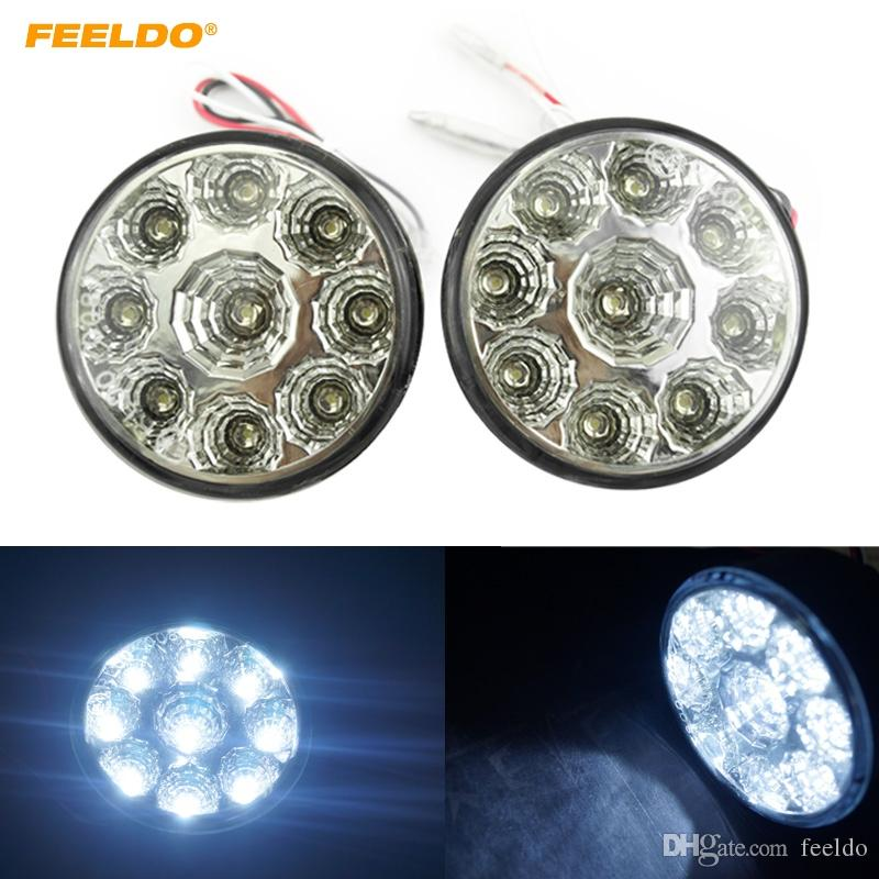 Reasonable Car Vehicle Drl White 3 Led Daytime Running Lights Head Lamp 9w 2 Pcs Lights & Lighting Headlamps