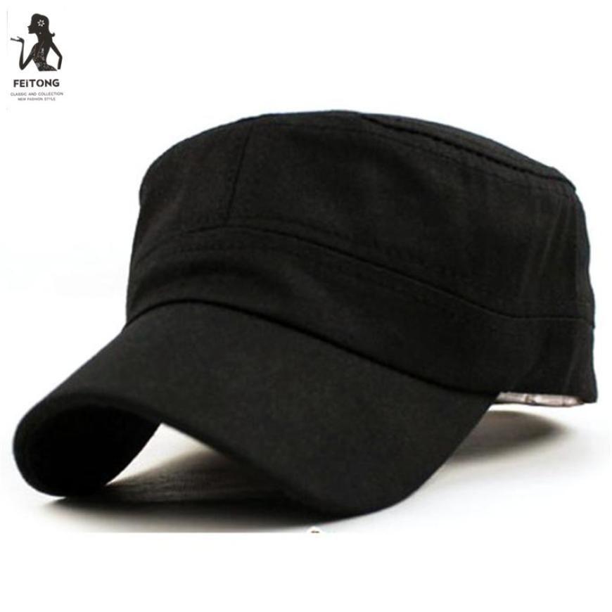 Classic Caps Plain Vintage Army Unisex Cadet Style Cotton Cap Hats ... f64080a97dd4