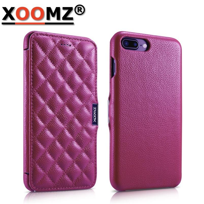 best service ff369 5bb25 For Cover iPhone 7 Cases Coque Flip Case Anti-Knock For Funda iPhone 7 Plus  Case Luxury Real Leather Women Fashion Hoesjes Dames Fashion