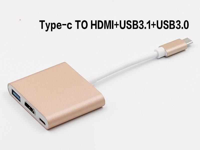 USB3.1 Typ-C-zu-4K-HDMI-USB-C-Digital-AV-Multi-Port-Adapter 4K-OTG-USB-3.0-HUB-Ladegerät für MacBook 12
