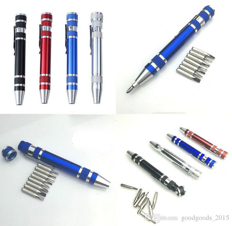 Outils de réparation multifonctions professionnels 8 en 1 Tournevis de précision Set de maintenance Kit Outils de poche portable c402