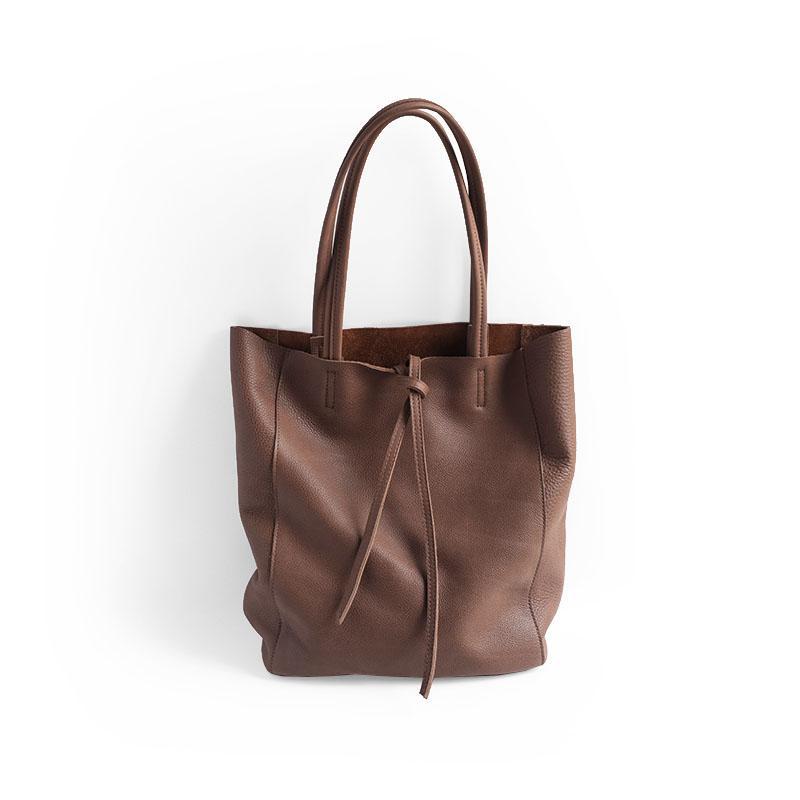 f533bde83 Compre Vendange Bolsa De Couro Artesanal Original Simples Moda Saco De  Compras Mulheres Ombro 2471 De Bokulu, $168.22 | Pt.Dhgate.Com