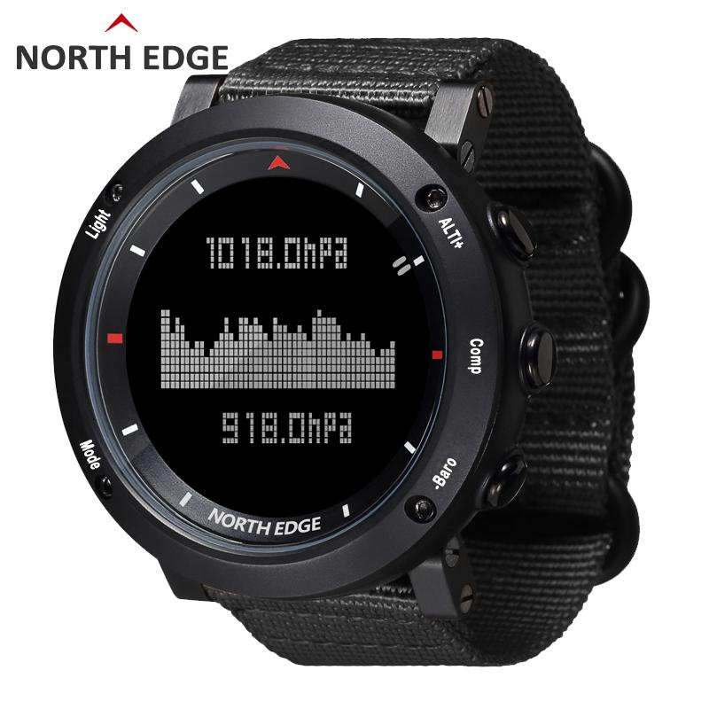 57c0d63b5 NORTH EDGE Men Sport Electronic Watch Army Hours Running Swimming Sports  Watches Altimeter Barometer Compass Waterproof Chronograph Watches Cheap  Designer ...