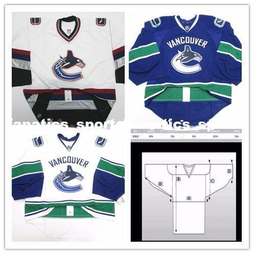 Cheap Wholesale Custom VANCOUVER CANUCKS ISSUED JERSEY ISSUED GOALIE CUT  Mens Stitched Personalized Hockey Jerseys Hockey Jersey VANCOUVER CANUCKS  Online ... dc228e024