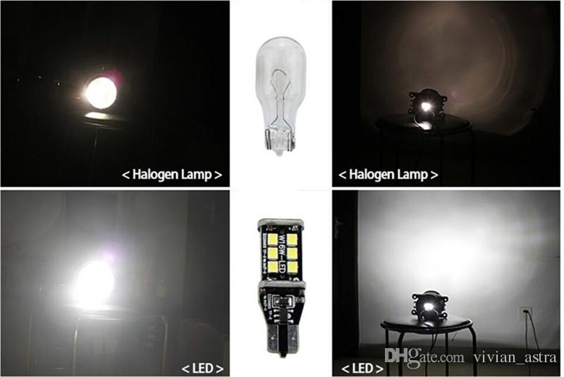High Power 800 Lumens Super Bright T15 W16W 921 915 LED Canbus Error Free 15SMD 2835 Backup Reverse Tail Brake Lights Red