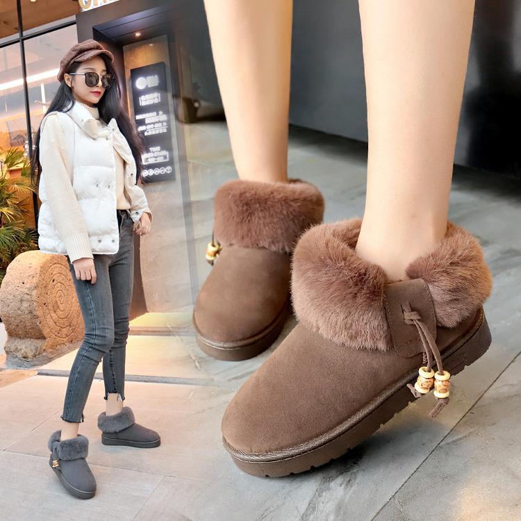 1afdabc4c16b Snow Boots Female 2018 Winter New Korean Version The Wild Fashion ...