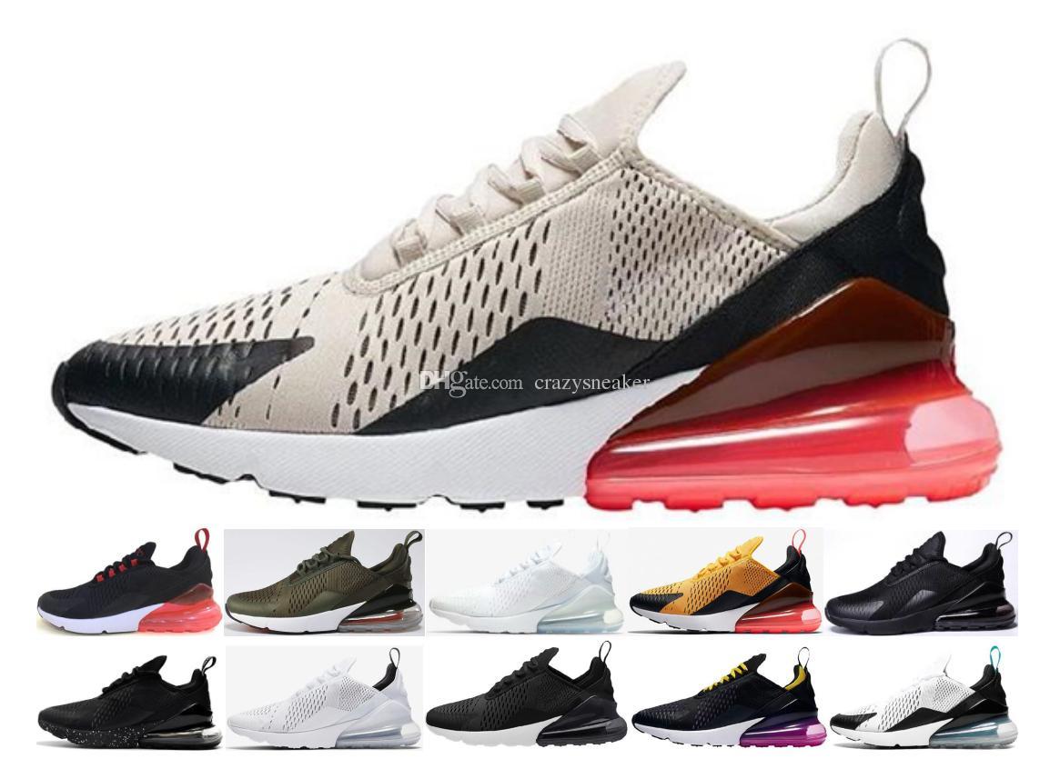 Compre 2018 New 270 Correndo Calçados Esportivos De Vendas Barato 270S  Black White Red Azul Almofadas Sneakers Executar Mulheres Homens Plus Off Nike  Air ... ce58c0ad348c3