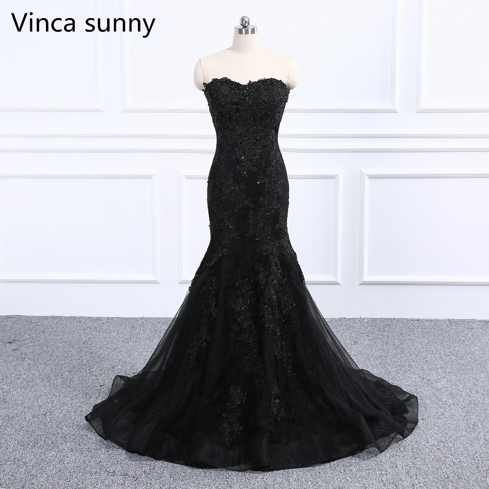 2019 Luxury Black Navy Blue Beading Mermaid Tulle Evening Dress Sweetheart  Sleeveless Elegant Evening Gowns 2018 Real Photo C18111601 From Linmei0005 e40c03916477