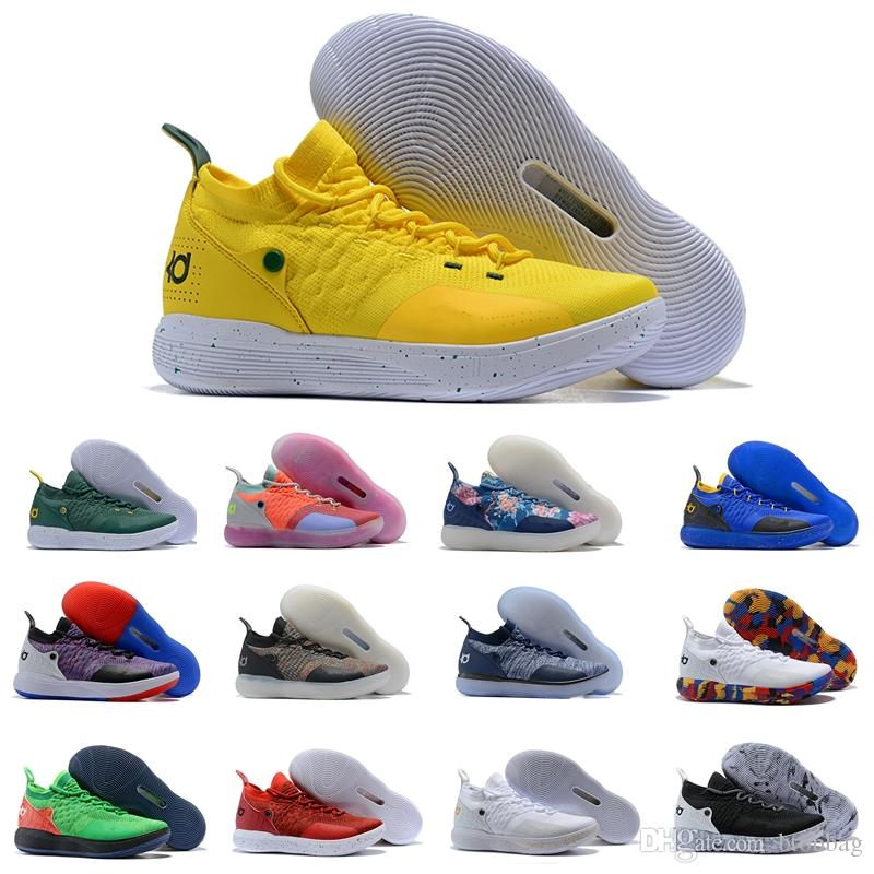 the latest 32078 169db Top Quality Mens KD 11 Basketball Shoes Oreo Sports Shoes Kevin Durant 11  Mens Trainers Designer KD11 Sneakers Size 7 12 Cp3 Shoes Kids Sneakers From  ...