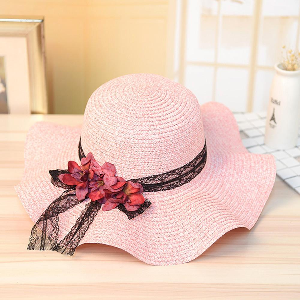 feitong Women Straw Sun Hat Jazz Sunshade Panama Trilby Fedora Hat Gangster Cap Women Knit Straw Hats#A27